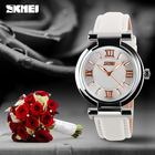 Skmei 9075 roman numerals dial cheap women horloge japan movt ladies wrist watch wr 30m