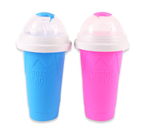 summer hot selling silicone squeeze cup slush maker cup