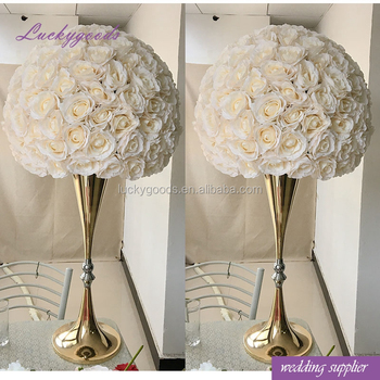 Handmade Personalized 60cm Champagne Color Flower Ball Centerpiece