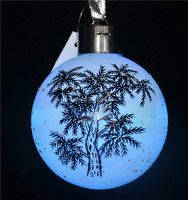 Creative glass ball with led lighted and painted tree pattern as christmas decor at home buying from alibaba group
