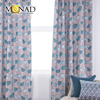 Monad 2017 latest designs modern abstract tulip teal blackout curtains with magnetic strip