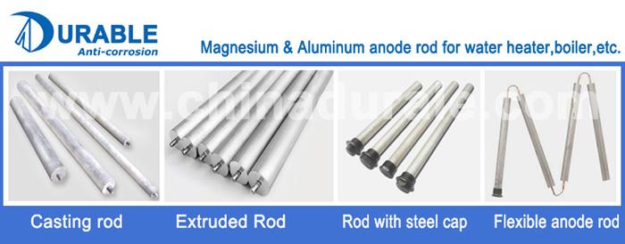 Sacrificial Water Heater Aluminum Alloy Zinc Anode Rod