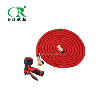 Strong Expandable Garden Hose Hot Water Flexible Pipe Magic Hose With Brass  Valve Connectors Rubber Fabric