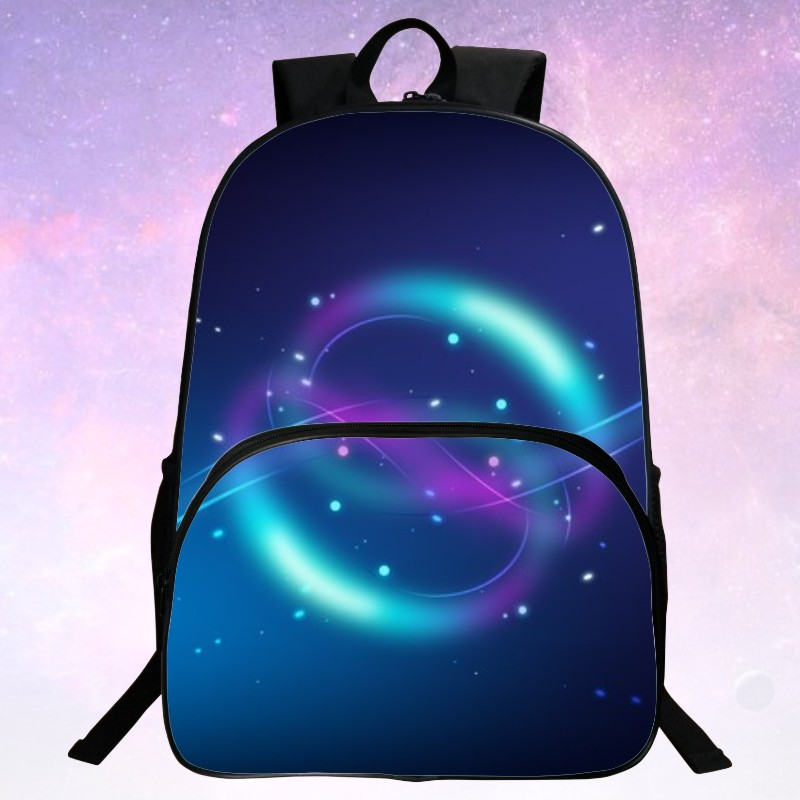 Beauty New Style Polyester Prints Starry Sky Black Girls Book bag For Children Backpacks Kids School Bags Teenagers