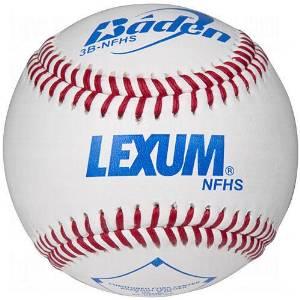 Baden 3B-NFHS Lexum Leather Baseballs 1 Dozen