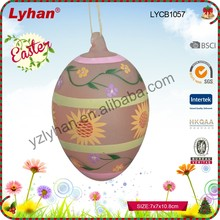 glass hanging ornament Easter decoration with hand painted