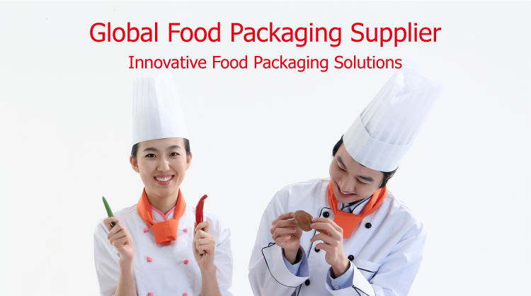 Disposable takeaway biodegradable printed paper fast food packaging