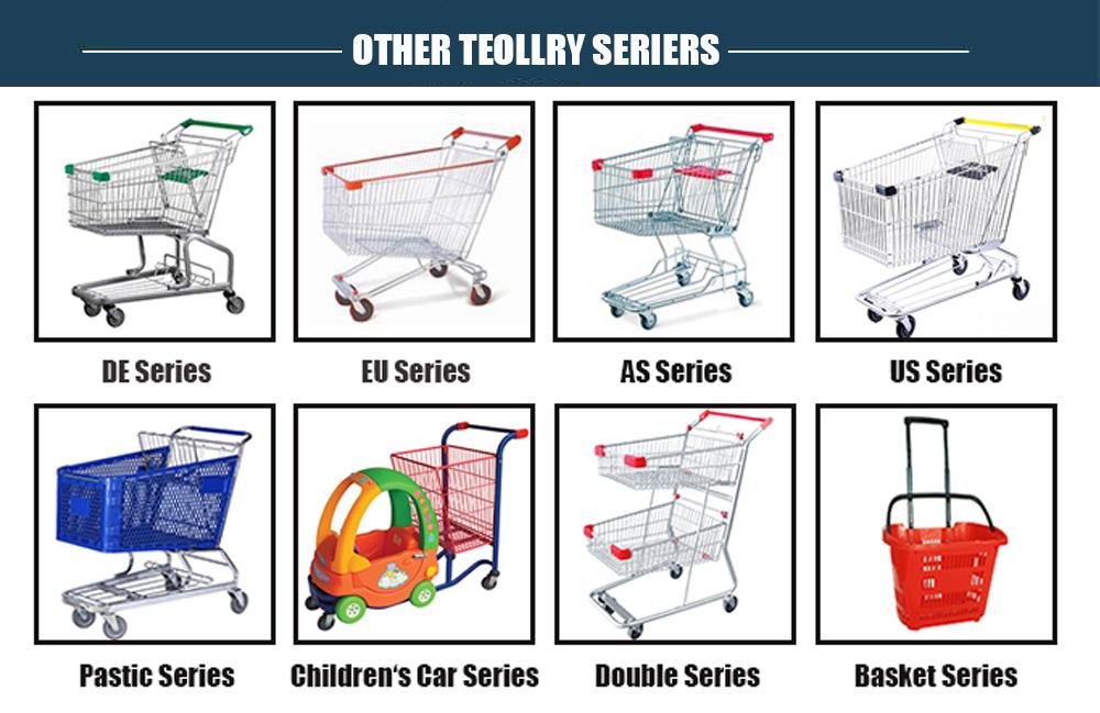 Plastic cart super market  shopping trolley with custom logo