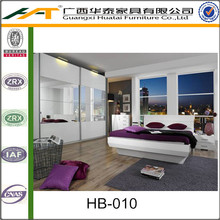 Wit Hoge Glossy Licht Bed | Hotel slaapkamer <span class=keywords><strong>hoofdeinde</strong></span>