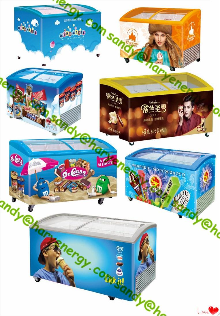 New 158l Mini Ice Cream Freezer Chest Display Freezer With