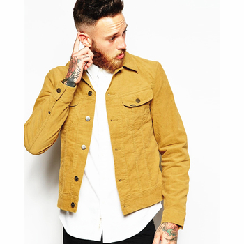 high quality Man tan color corduroy jacket coat