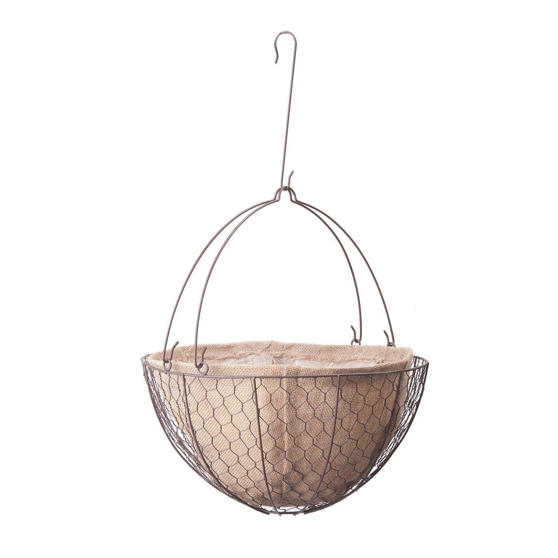 "Panacea Products 14"" Hanging Basket Burlap Liner"