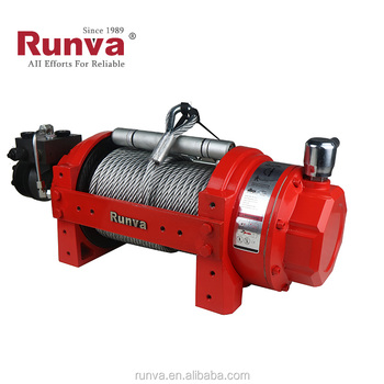 Runva high quality factory wholesale Industrial Portable 12V 10000 lbs 4.5t hydraulic winch manufacturers