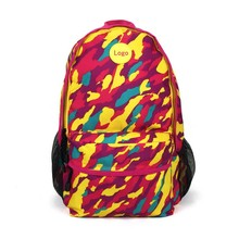 Camouflage fabrics backpack girl leisure bag