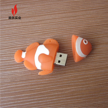 custom fish shape silicone usb pen drive Best price bulk 1gb usb flash drives custom pvc shape usb flash drive