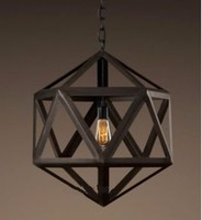 6.3-2 New Wrought iron Lantern Pendant Light Fixture Vintage Iron Art pendant & Chandelier