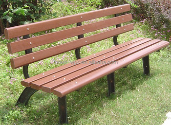 Wpc Wood Park Bench Wood And Metal Park Bench Wood Plastic Composite