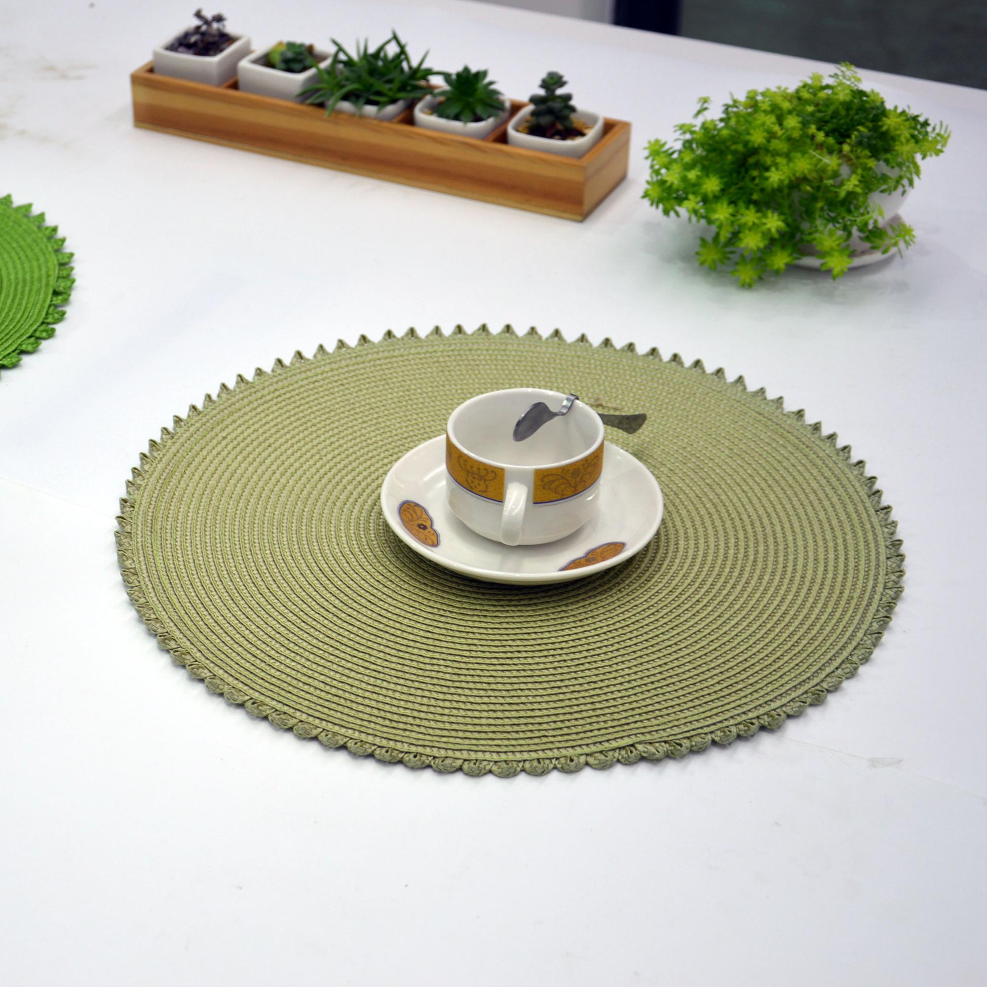 Hot food heat protection silicone esd pvc under dining table mat,pvc table mat