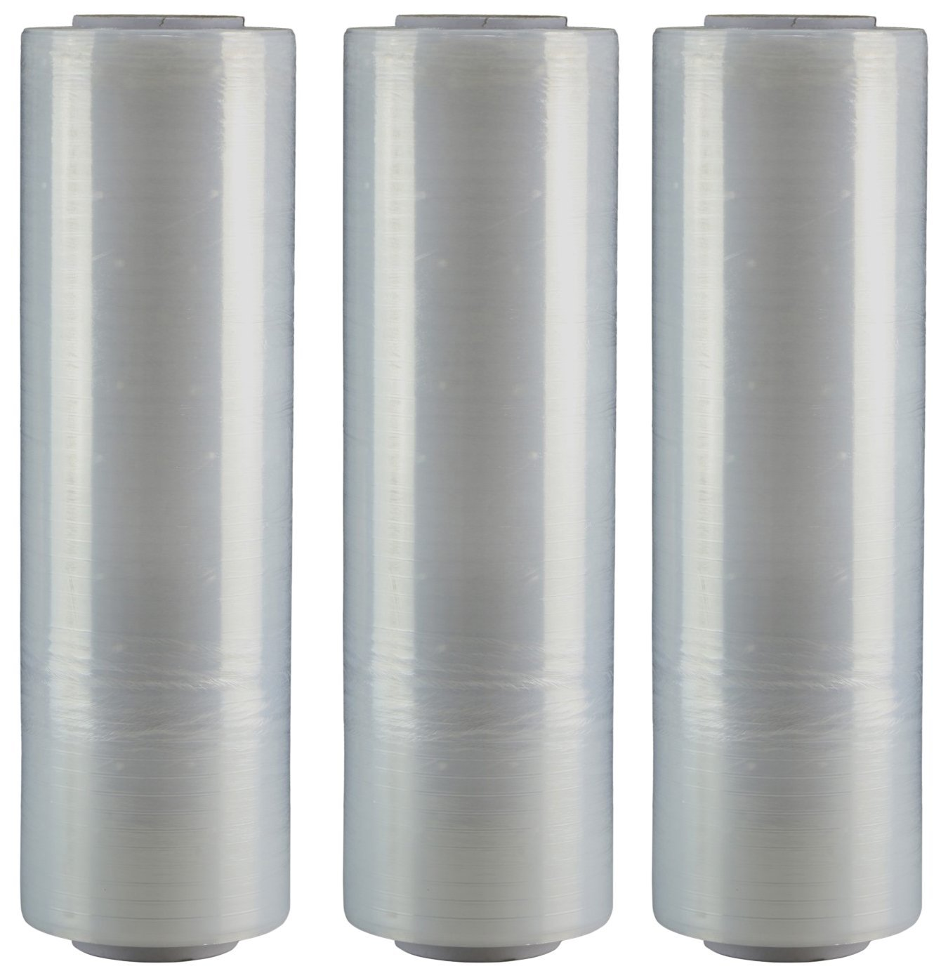 """AMERIQUE Shrink Wrap 3 Pack (3000FTX18"""", 19 LBS Total): Stretch Film Plastic Wrap - Industrial Strength Hand Stretch Wrap, 18""""x 1,000 FT Per Roll, 80 Gauge Shrink Film / Pallet Wrap – Clear"""