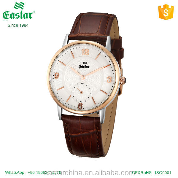 Fashionable design miyota quartz movement mens wrist watch good quality leather strap watch