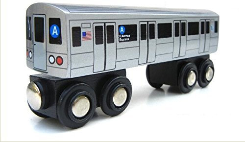 Munipals MP01-110A Wooden Subway Train New York City MTA NYC-A 8th Avenue Express