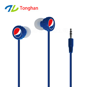 colorful cheap custom logo earbuds as gift give away earphones for promotional