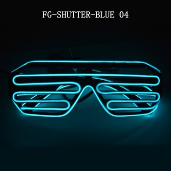 7563272861 party plastic led accessories party flashing blue led shutter glasses