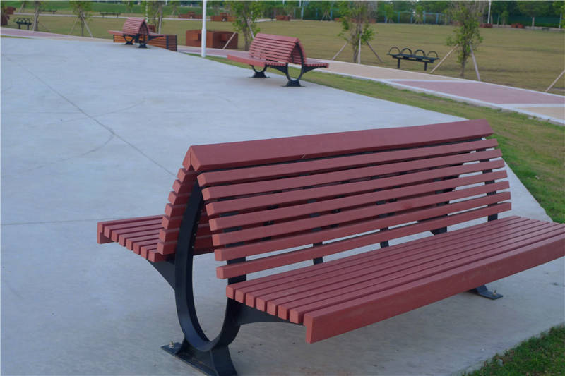 Modern Waterproof Outdoor Public Yard Rustic Garden Benches Ping Mall Bus Stop Bench