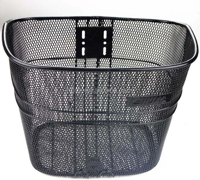 Removable black wire bicycle basket