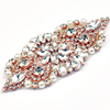 Rose gold honey Pearl rhinestone applique rhinestones sew on with metal base for baby blanket or hair decoration WRA-984