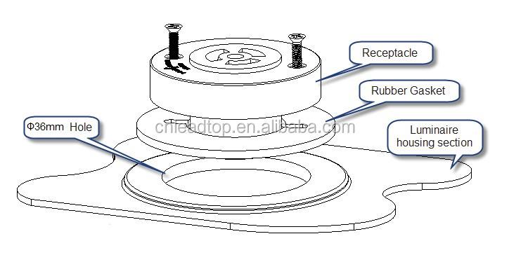 ul approved photo control receptacle nema photocontrol switch socket lighting sensor photocell