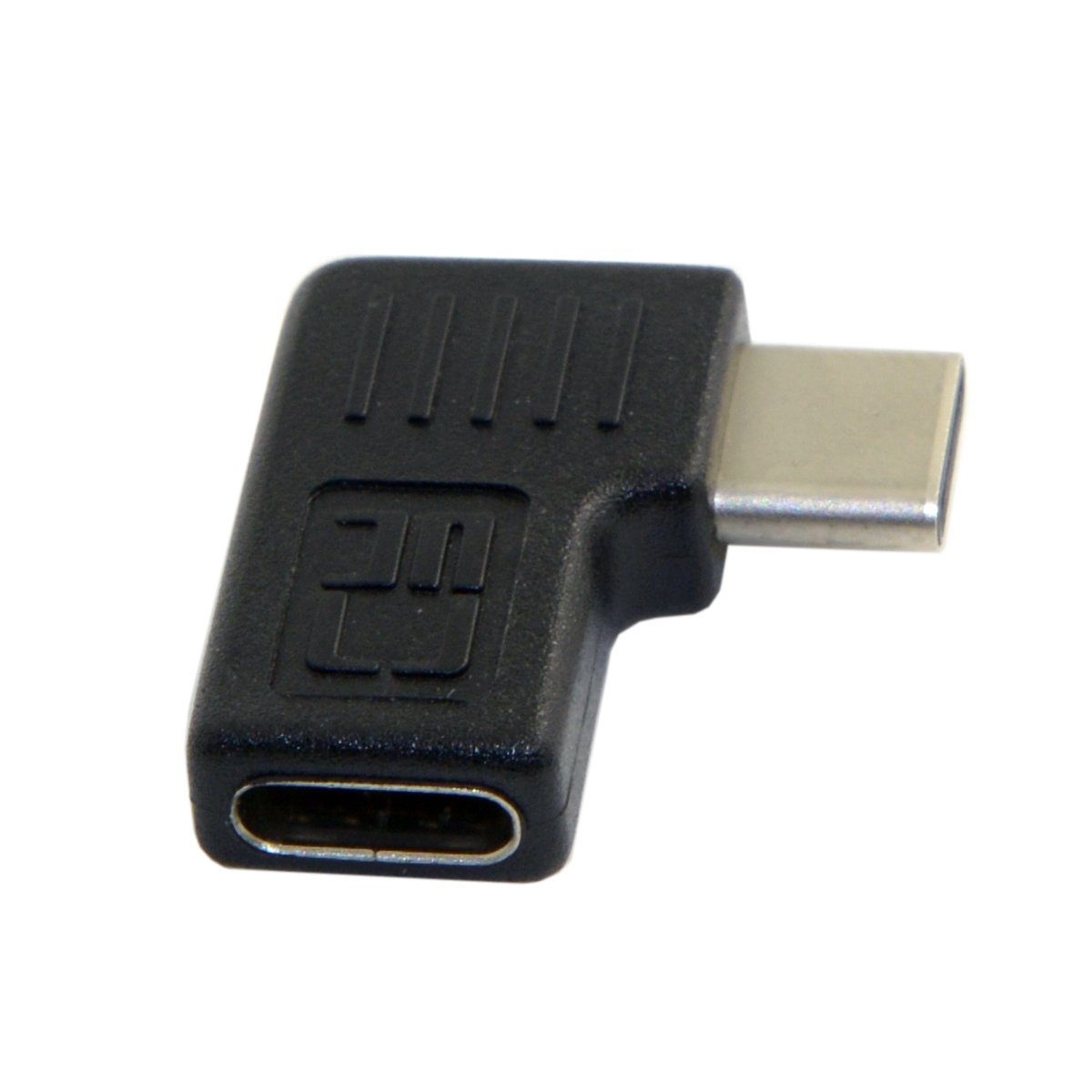 CY Right & Left Angled 90 Degree USB-C USB 3.1 Type-C Male to Female Extension Adapter for Laptop & Tablet & Mobile Phone