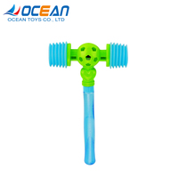 Kids 2in1 bubble stick double head mini plastic toy BB hammer with sound