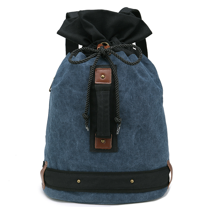 Get Quotations · Unisex Canvas Backpack 2015 European and American New  Style Fashion Casual Travel Camping Bags Drawstring Bag 8be6854a6a325