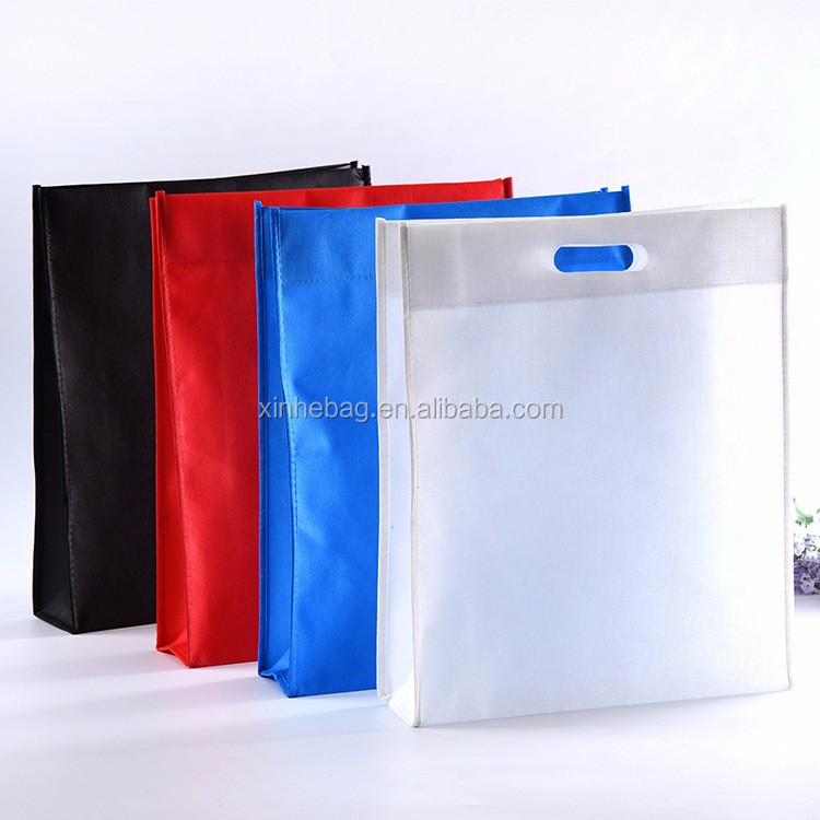 Custom wholesale cheap promotion colorful die cut non woven shopping bag/recycled folding tote shopping bag