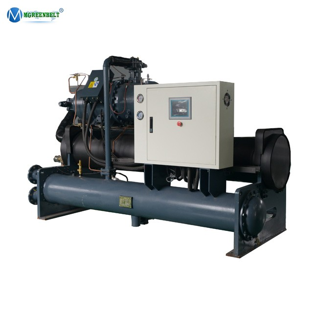 Low electricity consumption water cooled screw type water chiller shini