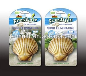 aroma hanging shell shape gel air freshener car perfume
