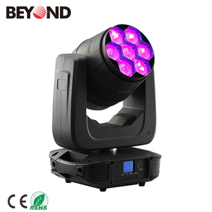 7 pieces 7-in-1 rgbwal+uv moving head light for wedding party