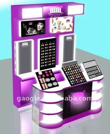Cosmetic shop display design with cosmetic shop layout