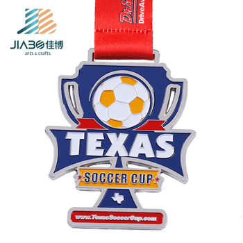 Jiabo silver  enamel metal zinc alloy customised   china  soccer  cups trophy  medal