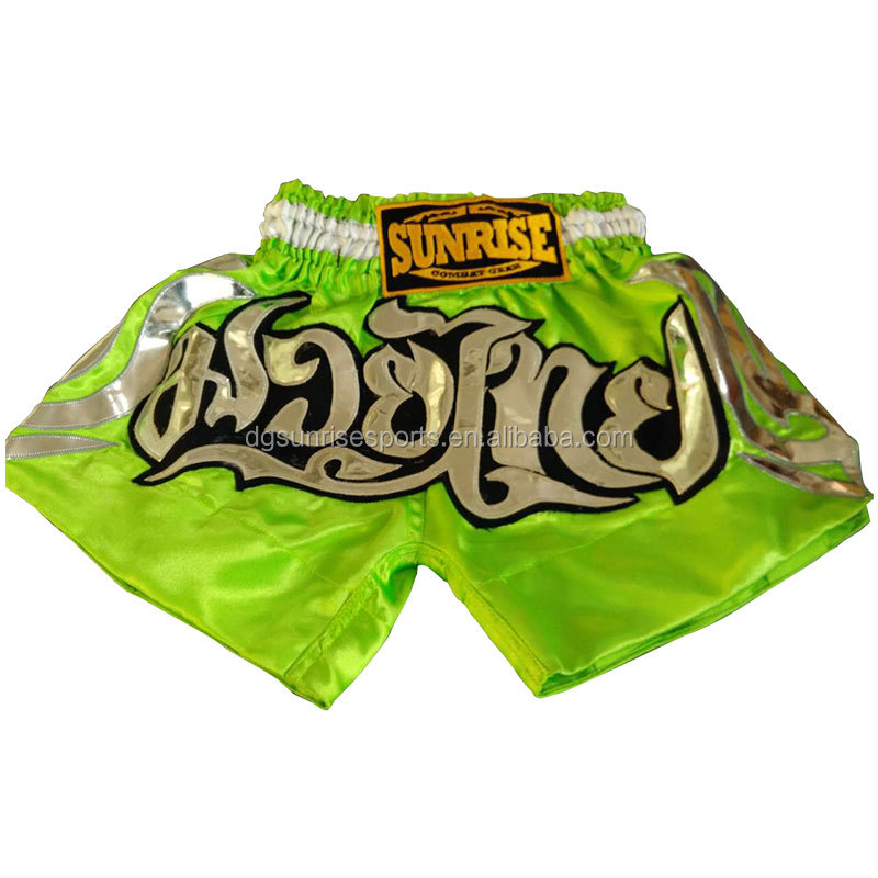 100% Polyester Satin Boxing Garment Muay Thai Fight Shorts
