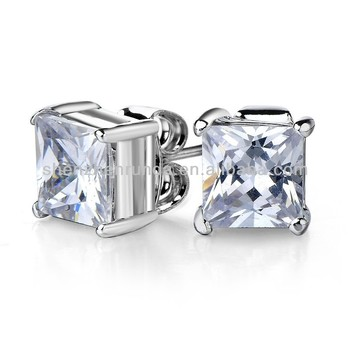 Square Diamond Cut Earrings For Boys