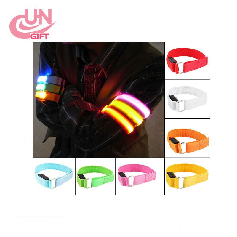 Hhtl-led Safety Reflective Belt Strap Snap Wrap Arm Band Armband Running Bracelet To Enjoy High Reputation At Home And Abroad Lights & Lighting