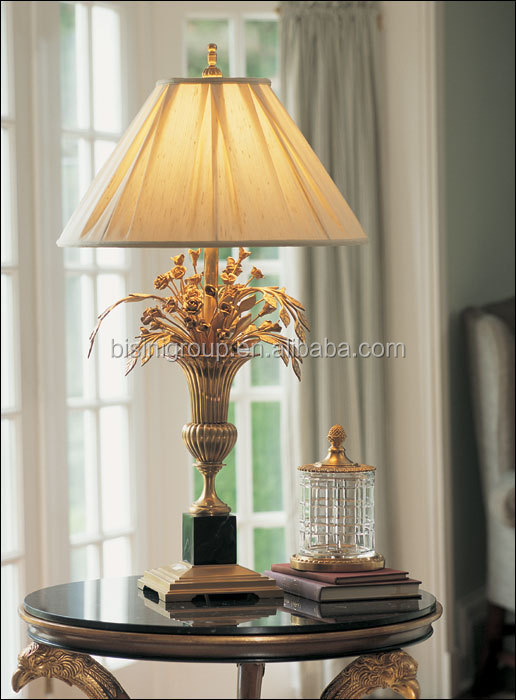Retro Vintage Spanish Style Decorative Brass Alabaster Table Lamp With  Shade BF11 10283f
