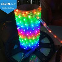color changing holiday luces led digital rope light party lights for navidad use