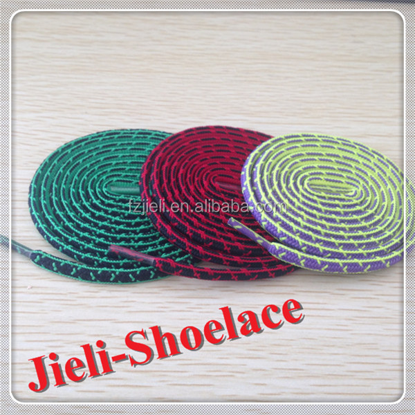 Cheap fashion polyester oval shoelace / latchet / shoestring