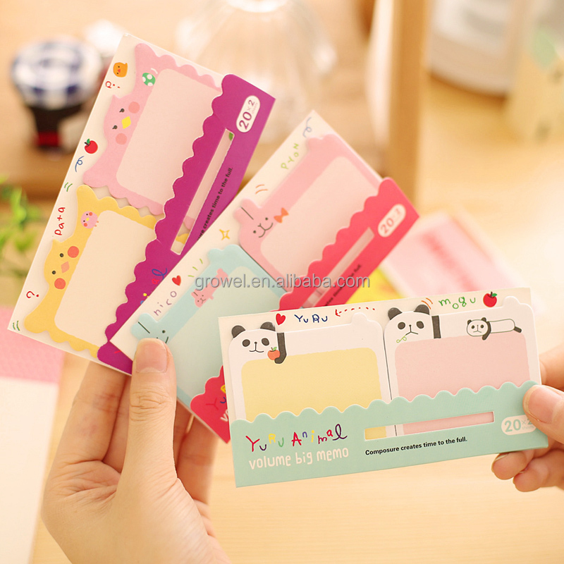 2017 cute mini writing sticky note pad in different shape