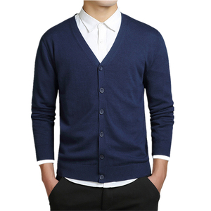 V Neck Sweater Man Wool Design Cotton Cardigan For Men
