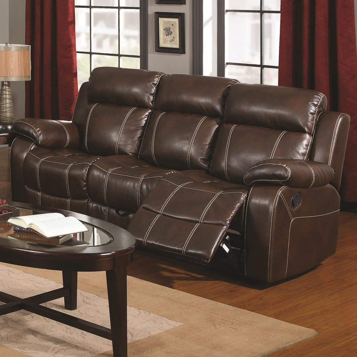 Madhu's COLLECTION Mg Décor Sofa Recliner Decor, Large, Brown