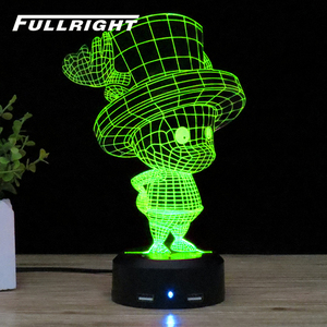 Chopper acrylic 3d illusion lamp Chopper 3d led touch lamp bases for 3d led